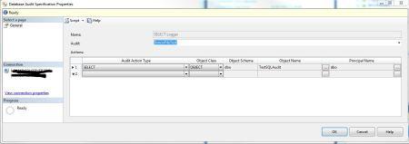 Database Audit Specification
