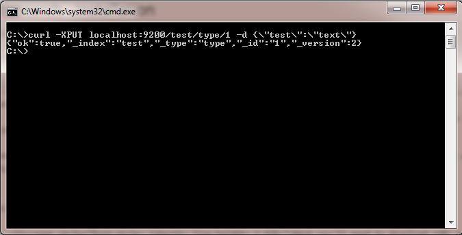 Elasticsearch - Install - curl response
