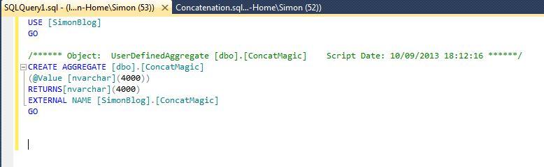 SSDT CLR  C# Aggregates 4